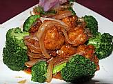 Sauteed Crispy Prawns or Scallops with Black Pepper Sauce
