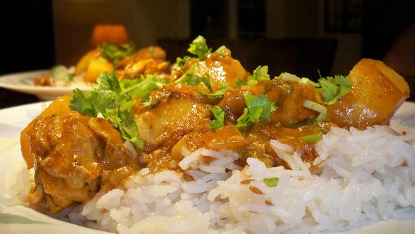 Курица карри с рисом рецепт с фото