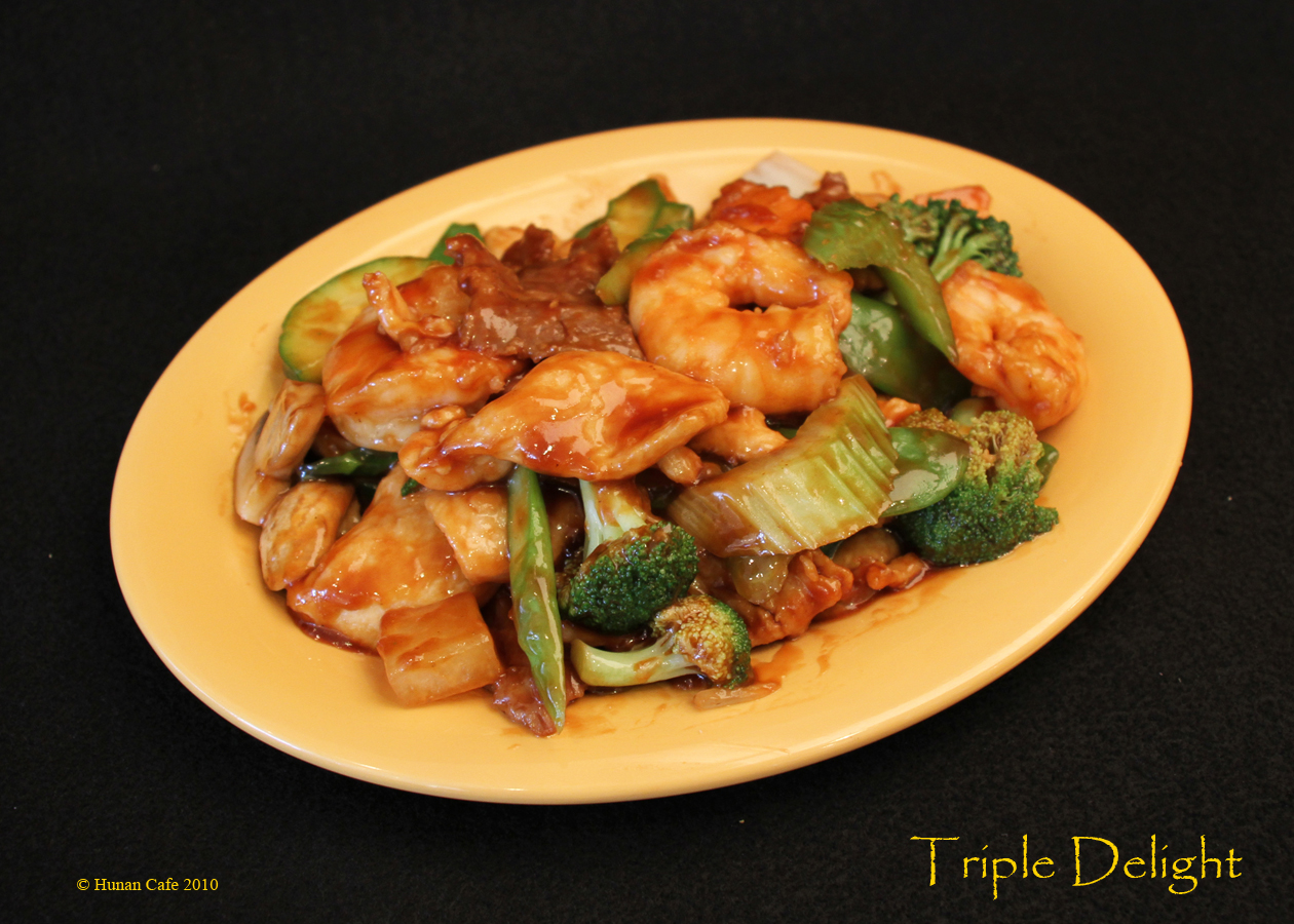 Triple delight chinese dish for Asian delight chinese asian cuisine