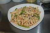 S15. Sliced chicken with king oyster mushroom