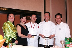 Betty, Theresa Lin, Jimmy Zhang, Chef Moon and Martin Yan
